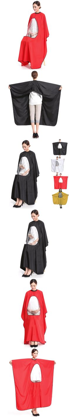 Adult Salon Hair Cut Hairdressing Barbers Hairstylist Cape Gown Waterproof Barber Cover Cloth Transparent Covers @ME88