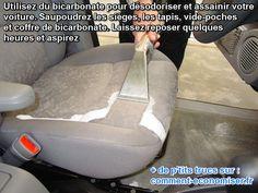 Nettoyer et assainir la voiture avec du bicarbonate
