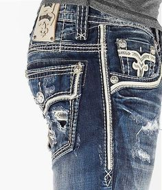 Rock revival mens slim fit jeans ... Nothing beats a man wearing a HOT PAIR OF JEANS!!! #rock