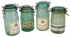 French Canning Preserve Jars,   S/4