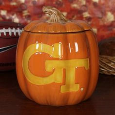 Georgia Tech Ceramic Candy Jar at Ramblinwreckstore.com! http://www.ramblinwreckstore.com/COLLEGE_GA_Tech_Yellow_Jackets_Accessories_Holiday_Items/Georgia_Tech_Yellow_Jackets_7_Resin_Decorative_Pumpkin