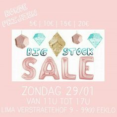Big Stock Sale La petite garde robe -- Eeklo -- 29/01