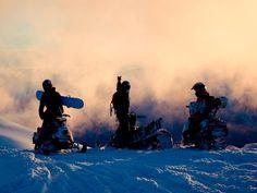 Snow machining in Alaska
