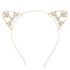 Shop Claire's for the latest trends in jewelry & accessories for girls, teens, & tweens. Find must-have hair accessories, stylish beauty products & more. Cat Accessories, Bridal Accessories, Little Girl Headbands, Cat Ears Headband, Hair Essentials, Hair Supplies, Metal Headbands, Rose Gold, Crystals