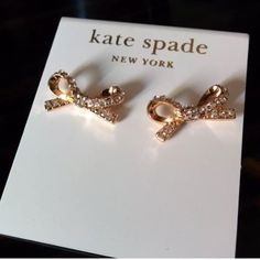 NEWKate Spade RARE Pave Bow Earrings These are absolutely stunning ! So rare and so beautiful. These are so versatile , you can dress up or down . These are a must have ladies! No trades. Thank you! kate spade Jewelry Earrings