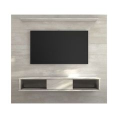 Norloti Floating Entertainment Center for TVs up to Living Room Tv, Living Room Modern, Living Room Designs, Tv Wall Design, Tv Unit Design, Tv Stand And Panel, Tv Wall Panel, 70 Inch Tvs, Basement Movie Room