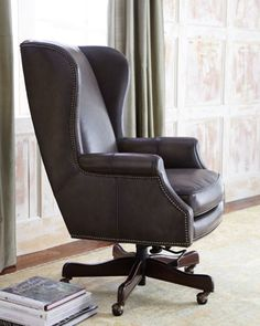 Mitchell Leather Office Chair Traditional Task Chairs