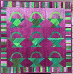 = tutorial = Spring Basket quilt by Frieda Anderson