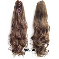 Women's 22inch Long Wavey Claw Clip On Synthetic Pony Tail Hair Extension