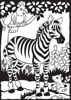 Zany Zoo Stained Glass Jr. Coloring Book Dover Publications