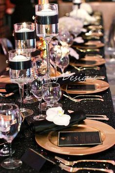 Black and Gold Wedding Decor . 24 Best Of Black and Gold Wedding Decor . Glamorous Black White and Gold Wedding with Sequin Bridesmaid Dresses Gatsby Party, Gatsby Wedding, Wedding Table, Wedding Events, Wedding Reception, Dream Wedding, Wedding Day, Black Tablecloth Wedding, Sequin Tablecloth