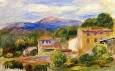 Pierre Auguste Renoir  Cagnes Landscape