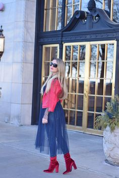 Tulle Over Jeans