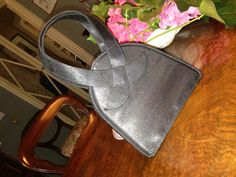 black satin cocktail 60s bag