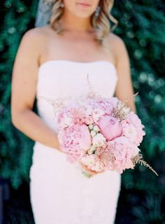 #peony #bouquet Photography by jessicaburke.com Design + Planning + Catering by offthebeatenpathweddings.com Floral Design by ericarosedesign.com  Read more - http://www.stylemepretty.com/2013/02/13/napa-valley-wedding-from-jessica-burke-off-the-beaten-path/
