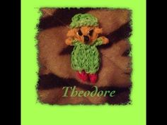Rainbow Loom Alvin and the Chipmunks - THEODORE figure. Designed and loomed by Tash Webber at Loomie World. Click photo for YouTube tutorial. 08/01/14.