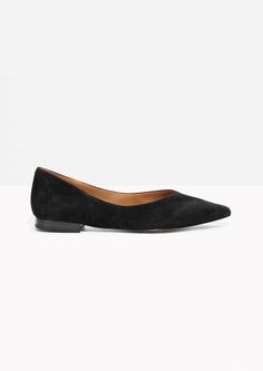 & Other Stories image 1 of Pointy Ballet Flats in Black