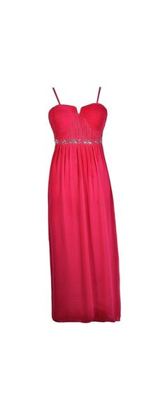 Rhinestone Rapture Embellished Maxi Dress in Hot Pink- Plus Size  www.lilyboutique.com