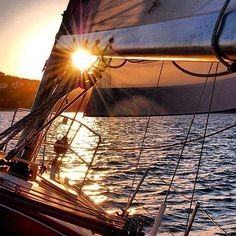 my favorite time of day...sunset sailing