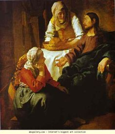 Jan Vermeer. Christ in the House of Mary and Martha. c.1654-1655. Oil on canvas. National Gallery of Scotland, Edinburgh, UK