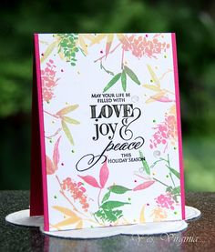 love joy peace http://virginialusblog.blogspot.ca/2015/10/virginias-monthly-stamp-study-13.html