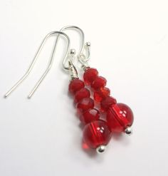 Little Love Collection  Red Glass Faceted Stick by TheEboutique, $12.00