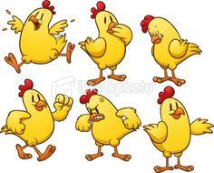 pictures of chickens cartoons | Cartoon chicken Royalty Free Stock Vector Art Illustration