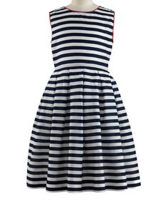 Take a look at this Navy Nautical Stripe Dress - Toddler & Girls on zulily today!