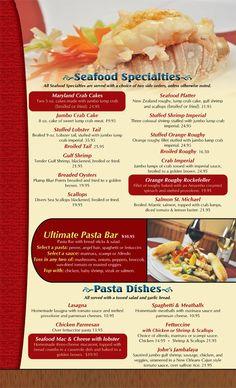 Costas Inn #Seafood Specialties & Sandwiches - Online Menu