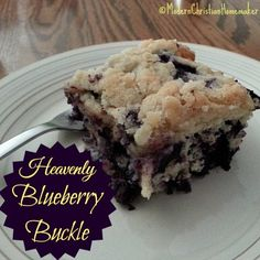 Heavenly Blueberry Buckle - It's fresh blueberry time!  That means everything blueberry at my house, and Blueberry Buckle is high on the priority list!