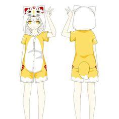 Kawaii Kitsune Romper Pajamas CP1710519
