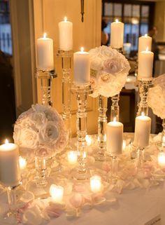 Wedding reception centerpiece idea; Featured photographer: Rebecca Yale Photography