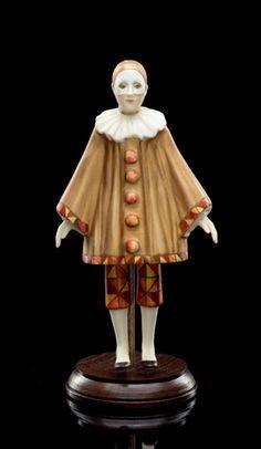 Pierrot (in beige) - Alexandra Gallery Porcelain Jewelry, Porcelain Ceramics, China Porcelain, Porcelain Tile, Porcelain Insulator, Doll Museum, Porcelain Dolls Value, Japanese Tea Set, China Dinnerware Sets