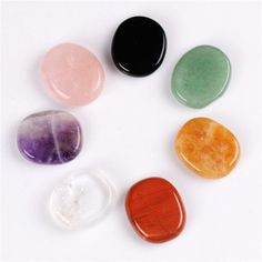 Quality Assorted 7 pieces/lot Palm stone Opal natural Crystal Reiki Healing Tiger eye Pink Quartz Black obsidian Chakra Free pouch with free worldwide shipping on AliExpress Mobile Pink Quartz, Rose Quartz, Quartz Crystal, Cheap Beads, Natural Crystals, Healing Crystals, Red Jasper, Chakra Stones, Green Aventurine