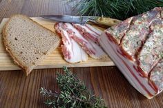 Authaler Luftgetrockneter Speck Bacon Recipes, Wine Recipes, Sauerkraut, Sausage, Sandwiches, Food And Drink, Tasty, Bread, Snacks