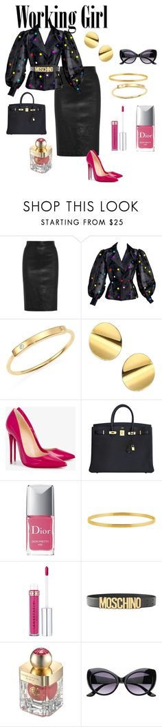 Woman on the Move by simplystatuesqu on Polyvore featuring Givenchy, Christian Louboutin, Hermès, Zoë Chicco, Kate Spade, Moschino, SW Global and Shanghai Tang