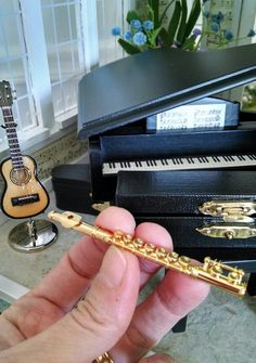 1:12th scale miniature flute! -- looks more like an alto flute but still awesome!