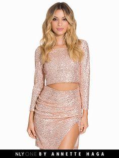 Ah Golden Sparkle Set - Nly One - Champagne - Festklänningar - Kläder - Kvinna - Nelly.com