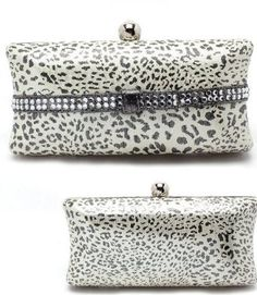 Amazon.com  AS SEEN BY CELEBRITIES Leopard w Crystal   Rhinestone Accents  BLING Hard Case Clutch Evening bag w Clasp closure by Jersey Bling  Clothing a8b3be9fee247