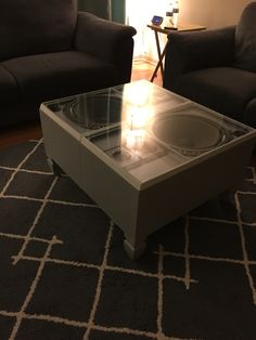 Coffee table made from two speakers Technics.