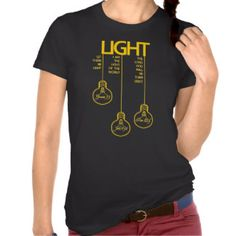 Vintage Bulbs Biblical Light T-shirt  www.zazzle.com/seeing_scripture*