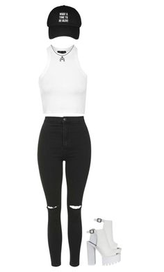 """""""what a time to be alive"""" by indigodistraction143 ❤ liked on Polyvore featuring Topshop, women's clothing, women's fashion, women, female, woman, misses and juniors"""