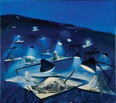 Dana Schutz, Night Sculpting, 2001, oil on canvas