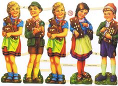 Poëzieplaatje Vijf Meisjes