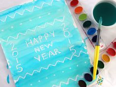 Last Minute New Year's Craft: Secret Watercolor Surprise!   Made + Remade