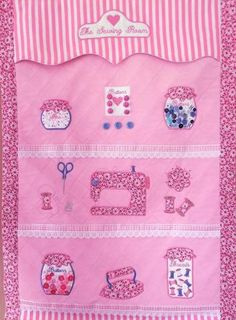 Sewing Room Wall Hanging and Machine Cover Machine Embroidery Projects, Embroidery Software, Machine Embroidery Applique, Custom Embroidery, Embroidery Thread, Sewing Caddy, Love Sewing, Mug Rugs, Applique Designs