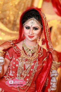 Bangladeshi bride Indian Bridal Makeup, Bridal Beauty, Bridal Hair, Bridal Looks, Bridal Style, Asian Bride, Bride Makeup, Pakistani Bridal, India Beauty