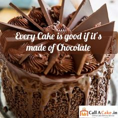 Every #cake is #good if it's made of #chocolate.#yummy #callacake.in