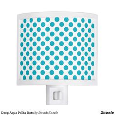 Deep Aqua Polka Dots Night Light Available on many products! Hit the 'available on' tab near the product description to see them all! Thanks for looking!  @zazzle #art #polka #dots #shop #home #decor #bathroom #bedroom #bath #bed #duvet #cover #shower #curtain #pillow #case #apartment #decorate #accessory #accessories #fashion #style #women #men #shopping #buy #sale #gift #idea #fun #sweet #cool #neat #modern #chic #blue #aqua #light #dark #white