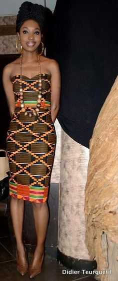 Ghanaian fashion, African women #DRESS Kitenge, Gele, Nigerian fashion, Ankara, Aso okè, Kenté, brocade #DETAILSW